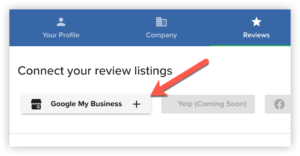 Connect Google to automatically generate your Google review link